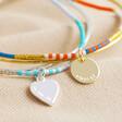 Lisa Angel Personalised Layered Bangle and Beaded Bracelet