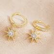 Crystal Star Huggie Hoop Earrings in Gold From Lisa Angel