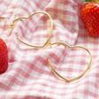 Lisa Angel Large Heart Hoop Earrings in Gold