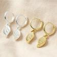 Lisa Angel Wing Charm Huggie Hoop Earrings in both Silver and Gold