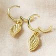 Lisa Angel Wing Charm Huggie Hoop Earrings in Gold Clasp