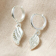 Lisa Angel Ladies Wing Charm Huggie Hoop Earrings in Silver