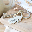 Lisa Angel Cute Personalised Engraved Family Character Keyring