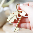 Personalised Engraved Family Character Keyring in Hand