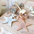 Lisa Angel Engraved Personalised Shiny Star Keyring