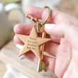 Lisa Angel Engraved Personalised Shiny Star Keyring with Model