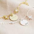 Lisa Angel Ladies' Personalised Short Crystal Star Charm Necklace