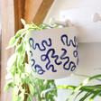 Lisa Angel White and Blue Hangable Ceramic Planter, H13cm