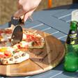 Lisa Angel Engraved Personalised 'Est.' Pizza Serving Board & Cutter Set