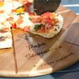 Lisa Angel Unique Personalised 'Est.' Pizza Serving Board & Cutter Set