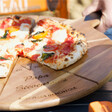 Lisa Angel Large Engraved Personalised 'Est.' Pizza Serving Board & Cutter Set