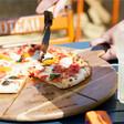 Lisa Angel Men's Personalised 'Est.' Pizza Serving Board & Cutter Set