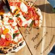 Lisa Angel Personalised 'Est.' Pizza Serving Board & Cutter Set