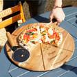 Lisa Angel Large Personalised 'Est.' Pizza Serving Board & Cutter Set