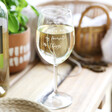 Lisa Angel Ladies' Personalised 'My Favourite Things' Wine Glass