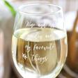 Lisa Angel Ladies' Engraved Personalised 'My Favourite Things' Wine Glass