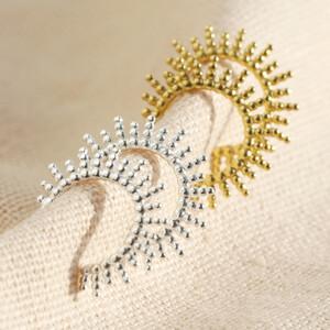 Sterling Silver sunbeam Hoop Earrings