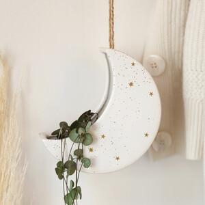 Ceramic Moon Hanging Planter