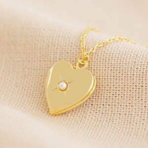 Gold June Heart Locket necklace