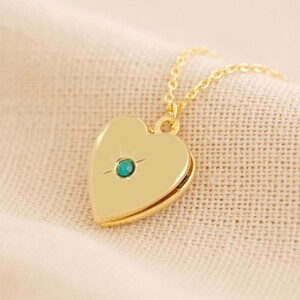 Gold May Heart Locket necklace