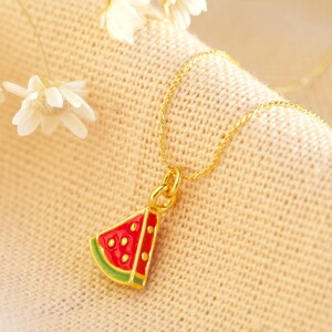 Watermelon necklace in gold