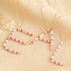 Beaded Large Initial in Gold H
