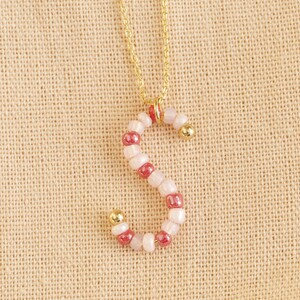Beaded Gold Small Initial S