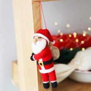 Felt Jolly Santa Hanging Decoration