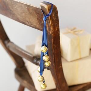 Blue Ribbon Gold Bells