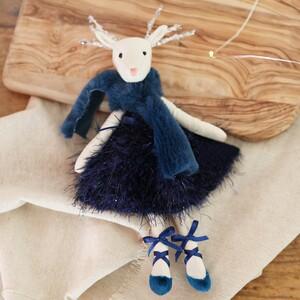 Navy Reindeer Doll