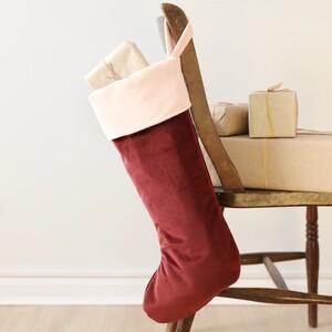 Pink/Wine Velvet Stocking