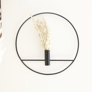 Black Round Metal Wall Vase