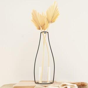 Black Tall Metal Silhouette Vase