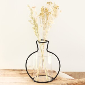 Black Small Metal Silhouette Vase