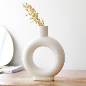 White Donut Vase