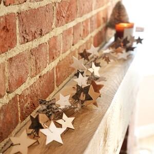 Wooden Starry Garland