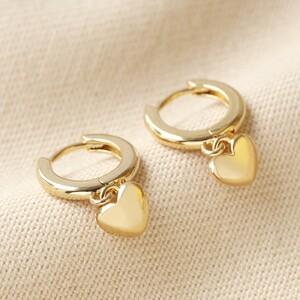 Small Heart PLAIN Huggies in Gold