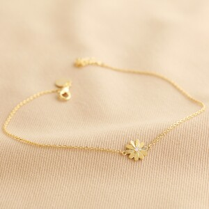 Daisy Anklet in Gold