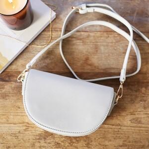 Light Grey Half Moon Handbag