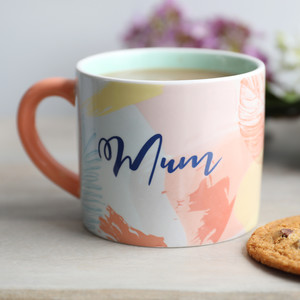 Pastel Botanical 'Mum' Mug