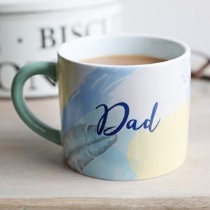 Pastel Blue Botanical 'Dad' Mug