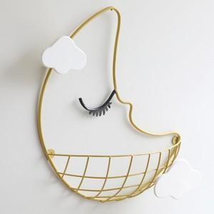 Crescent Moon Wall Basket