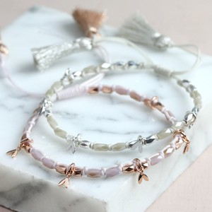 Rose Gold Friendship Bracelet with Charm
