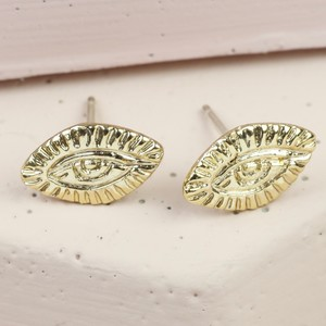 Antique Eye Stud earrings In Gold