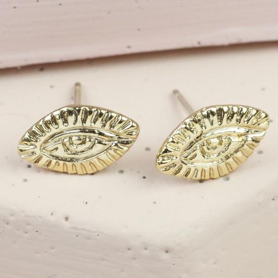 Antique Eye Stud earrings In Gold