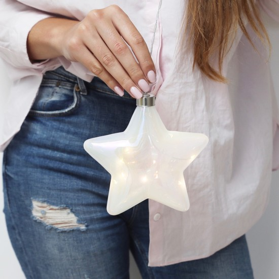 Hanging Pearlescent Star LED Light