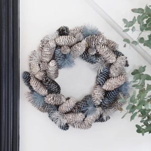 Frosted Blue Pinecone Christmas Wreath