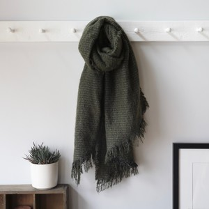 Sparkle Blanket Scarf in Brown