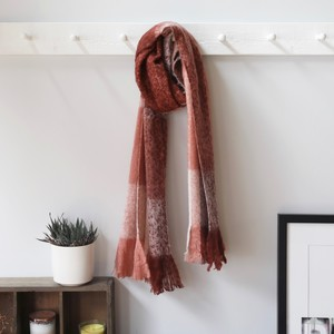 Red & Pink Check Scarf