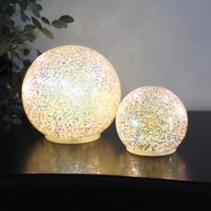 Small Iridescent Glitter Ball Light Decoration